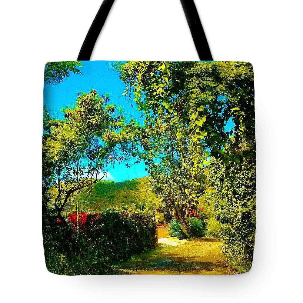 Landscape Tote Bag featuring the photograph East End St. John's Usvi by Tamara Michael