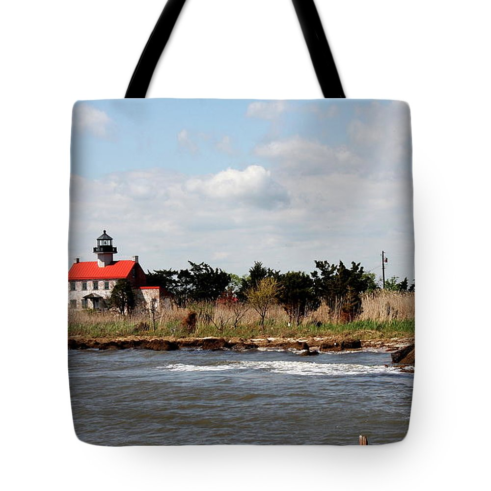 East Point Lighthouse Tote Bag featuring the photograph East Point Lighthouse II by Christiane Schulze Art And Photography