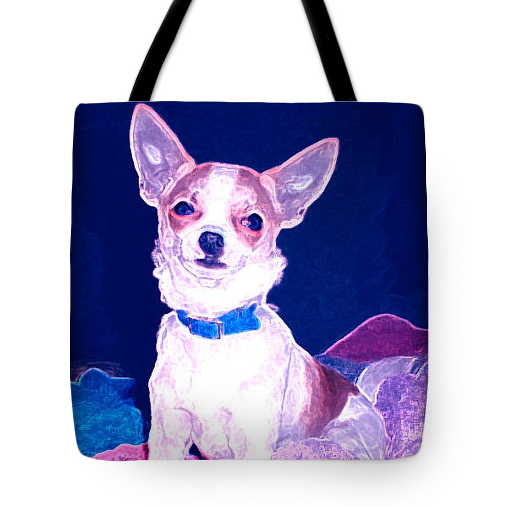 Chihuahua Tote Bag featuring the photograph Easter Chachi by Leah Delano