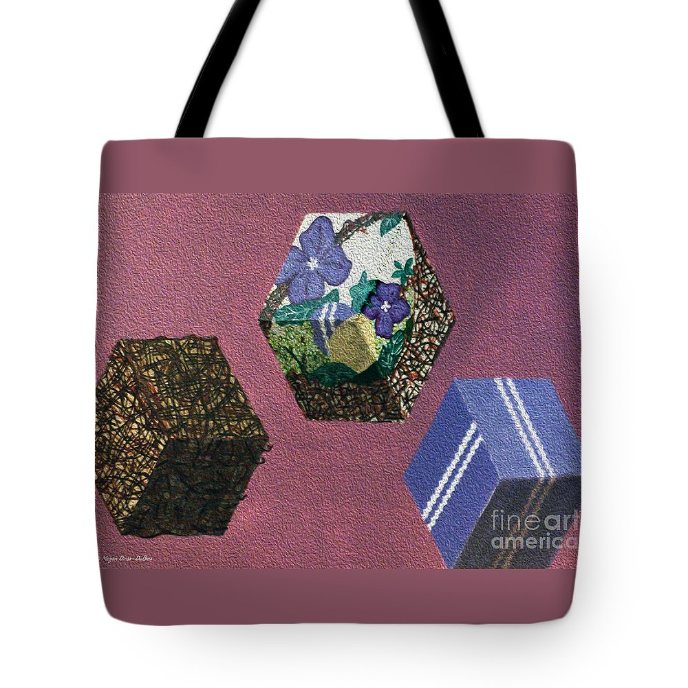Acrylic Painting Tote Bag featuring the painting Easter Cubes - Painting by Megan Dirsa-DuBois