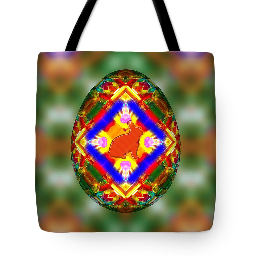 Easter Egg 3d Tote Bag featuring the digital art Easter Egg 3d by Carlos Vieira