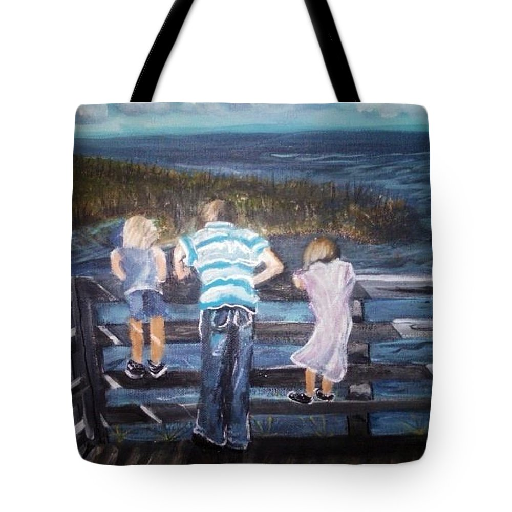 An Easter Sunday Tote Bag featuring the painting Easter On The Chesapeake Bay by Katie Adkins