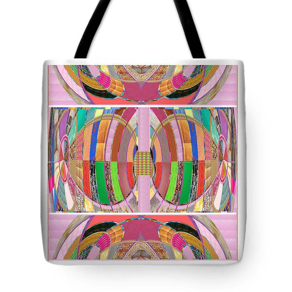 Heart Tote Bag featuring the painting Eastern Cave Style Art Using Crystal Stones Gems N Jewels Use Your Imagination And Enjoy by Navin Joshi