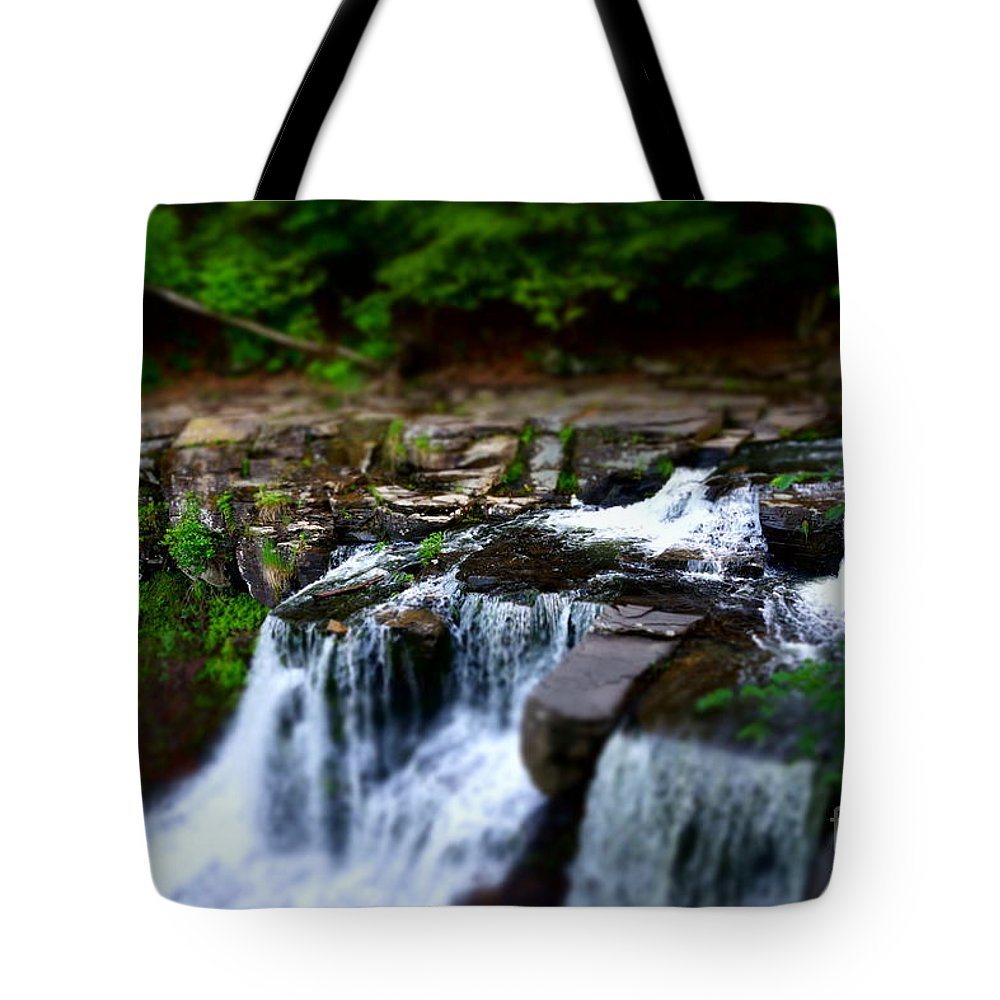 Waterfalls Tote Bag featuring the photograph Easy Going by Jeffery L Bowers