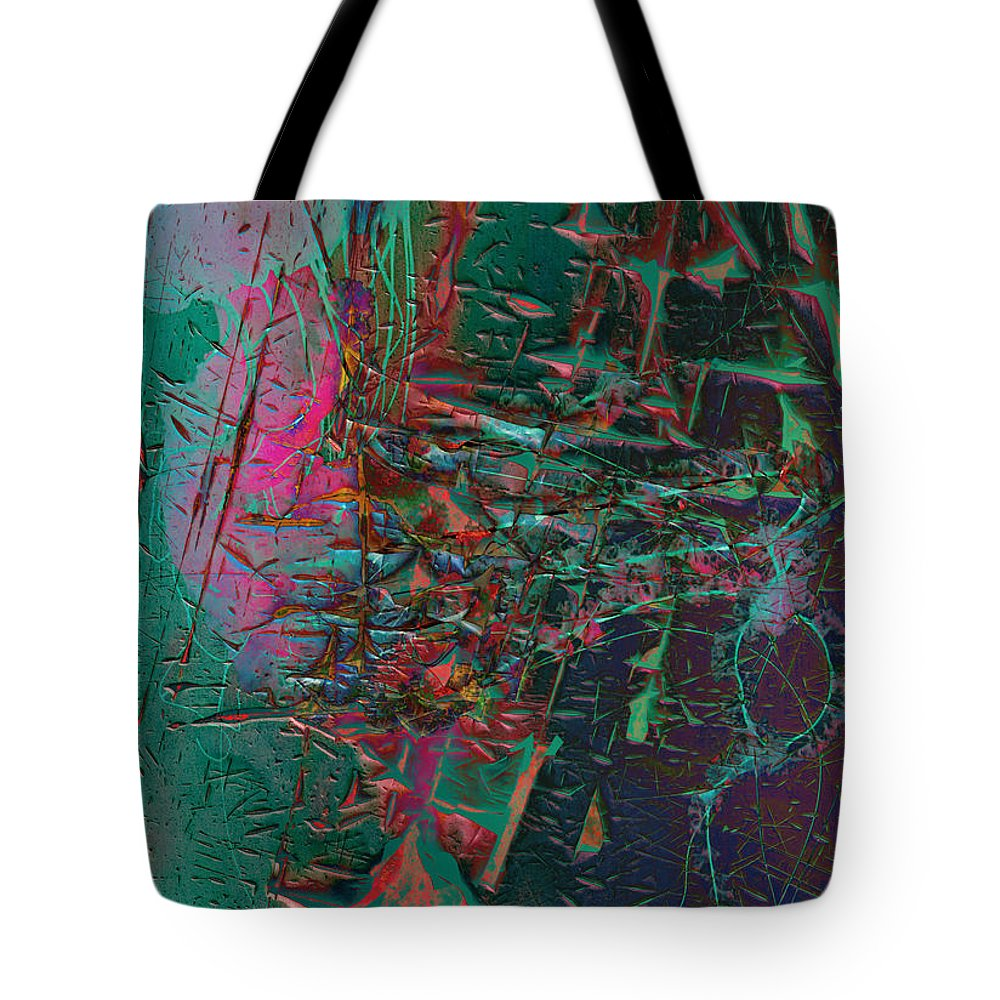 Abstract Tote Bag featuring the photograph Eat The Jelly Within by The Artist Project