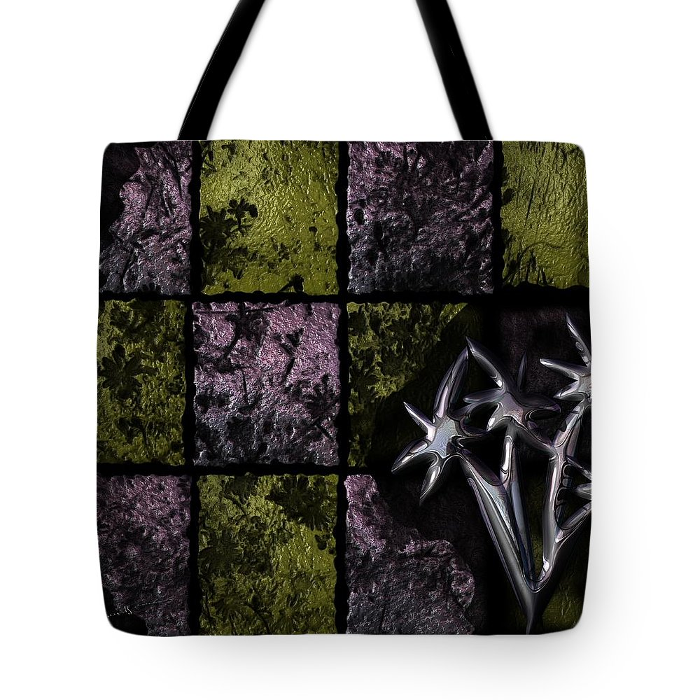 Eat Tote Bag featuring the digital art Eating Away At The Garden by Michael Hurwitz