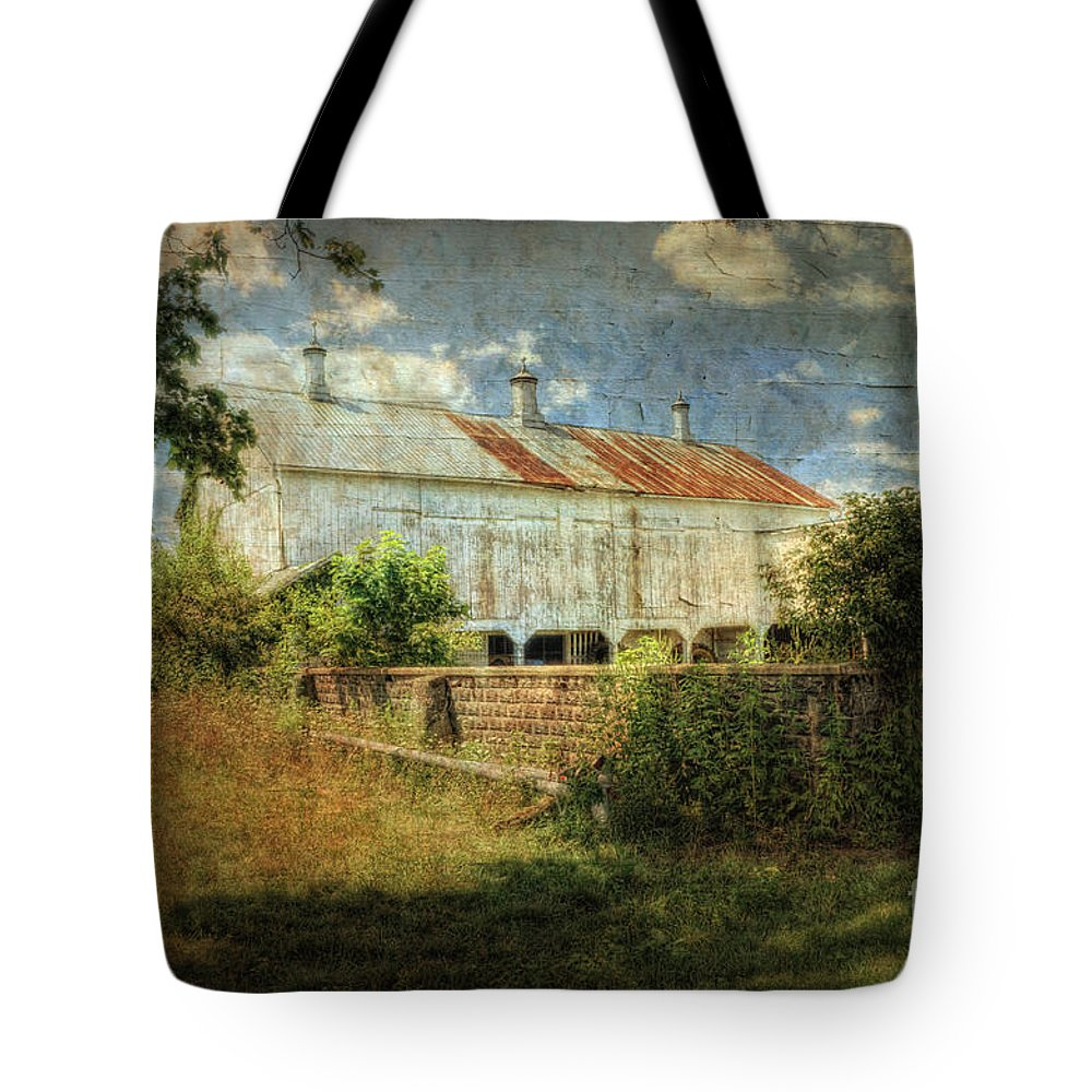 Barn Tote Bag featuring the photograph Ebert's Old Barn by Pamela Baker