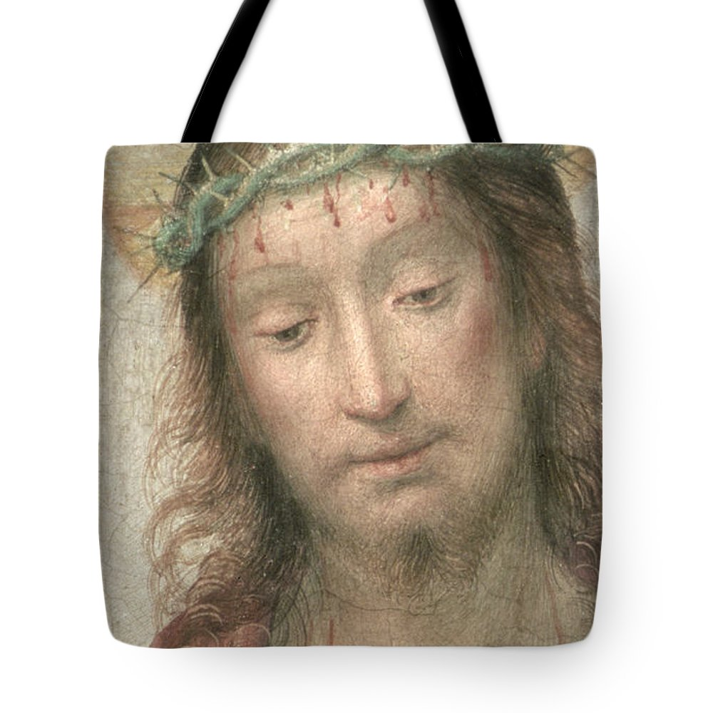 Renaissance Tote Bag featuring the painting Ecce Homo by Fra Bartolommeo