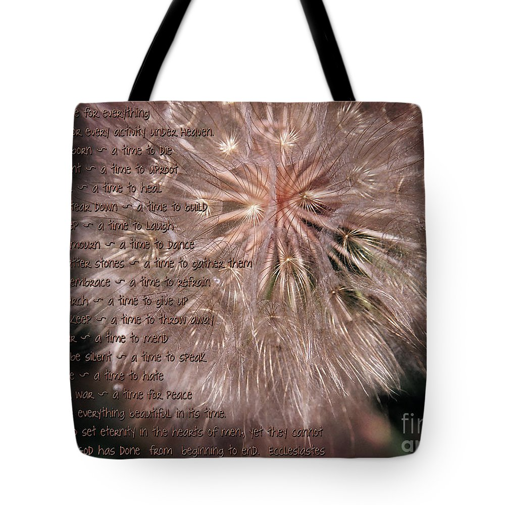 Season Tote Bag featuring the painting Ecclesiastes Seasons by Constance Woods