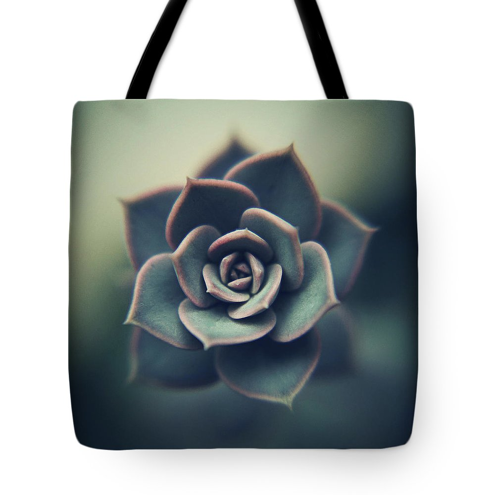 Outdoors Tote Bag featuring the photograph Echeveria Macro by Con Ryan