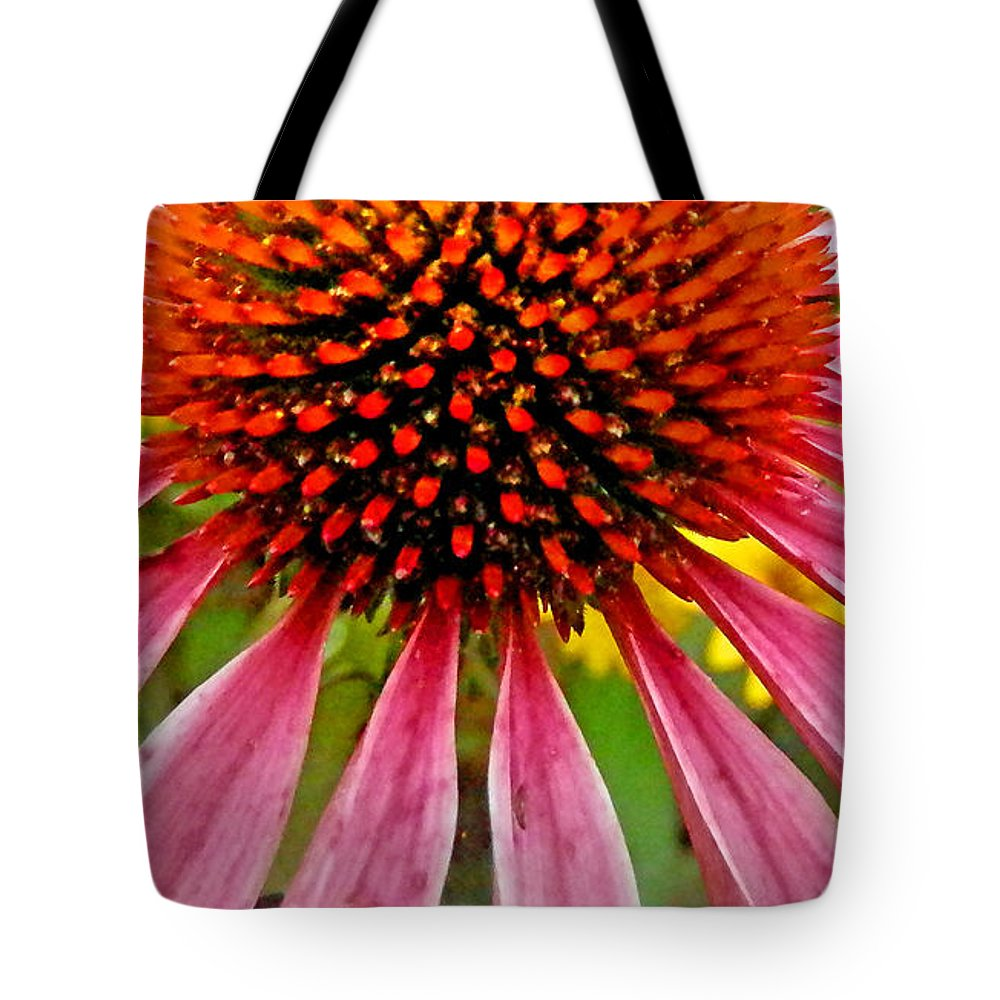 Duane Mccullough Tote Bag featuring the photograph Echinacea Flower Upclose Filtered by Duane McCullough