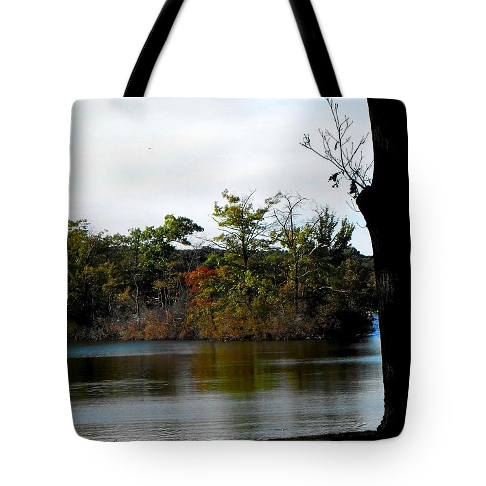 Scenic Tote Bag featuring the digital art Eco Ambiance by Catherine Ratliff