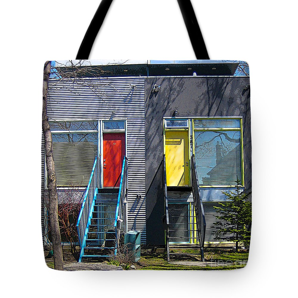 Cities Tote Bag featuring the photograph Eco-home by Nina Silver