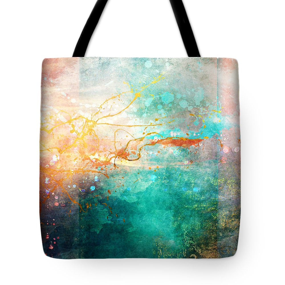 Abstract Tote Bag featuring the digital art Ecstatic by Aimee Stewart
