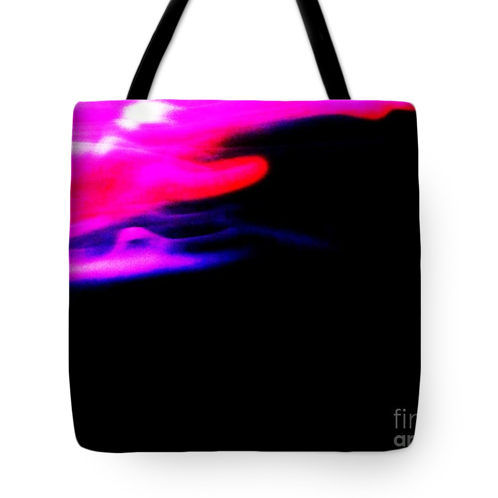 Edge Of Space Tote Bag featuring the photograph Edge Of Space Abstract by Eric Schiabor