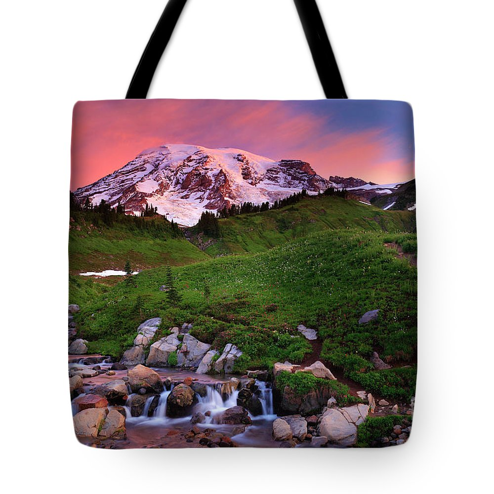 America Tote Bag featuring the photograph Edith Creek Sunrise by Inge Johnsson
