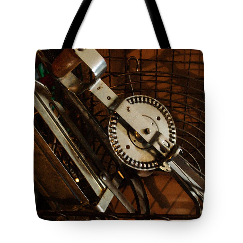 Old Tote Bag featuring the photograph Egg Beater In Basket by Tikvah's Hope