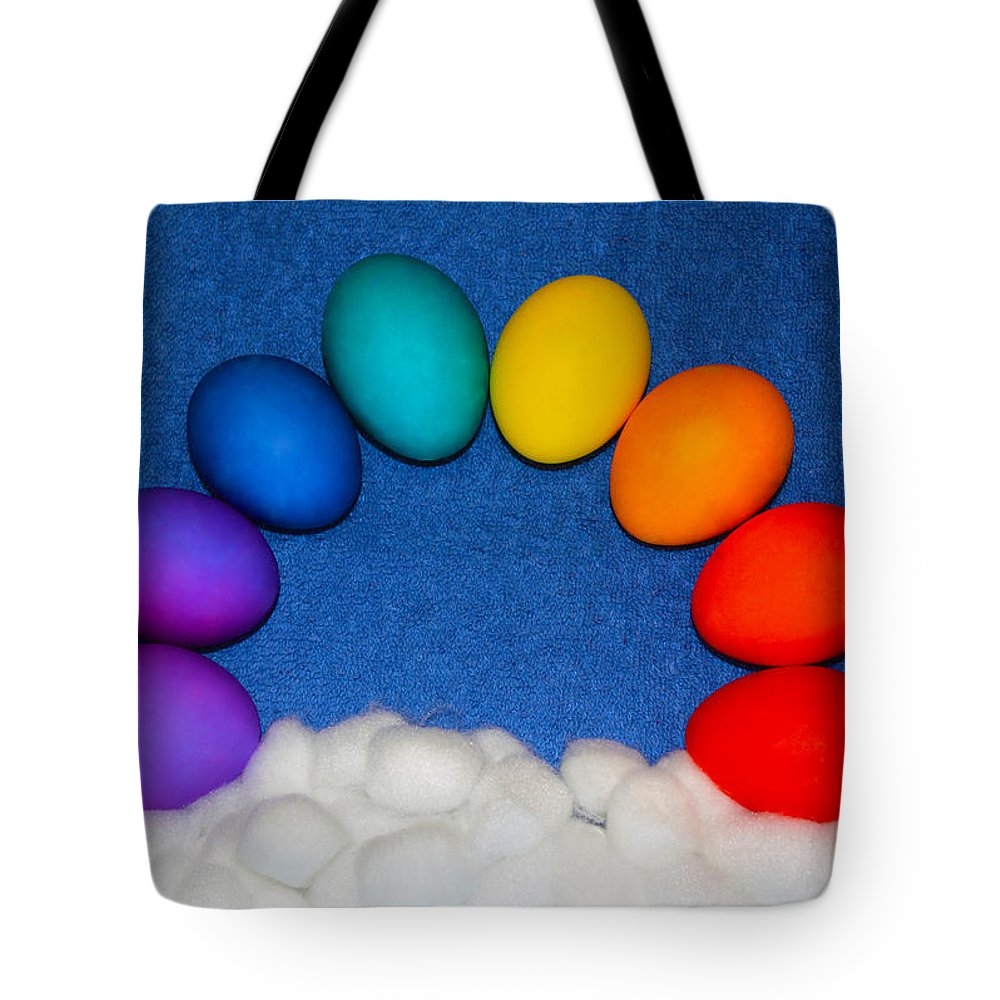 Rainbow Tote Bag featuring the photograph Eggbow by Shane Bechler