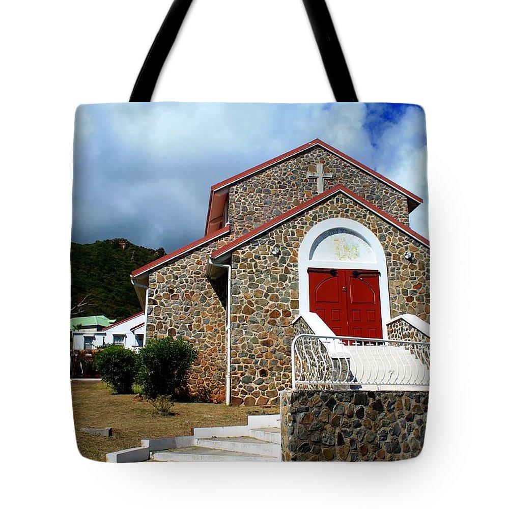 Saint-martin - Eglise Catholique De Quartier D'orleans Tote Bag featuring the photograph Eglise Catholique De Quartier D'orleans by James Markey