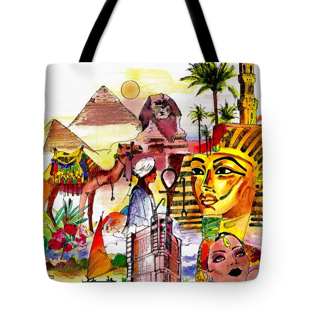 Rossidis Tote Bag featuring the painting Egypt by George Rossidis