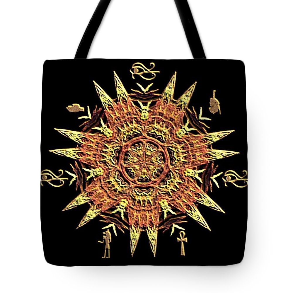 Egyptian - Fractal Tote Bag featuring the digital art Egyptian - Fractal by Maria Urso