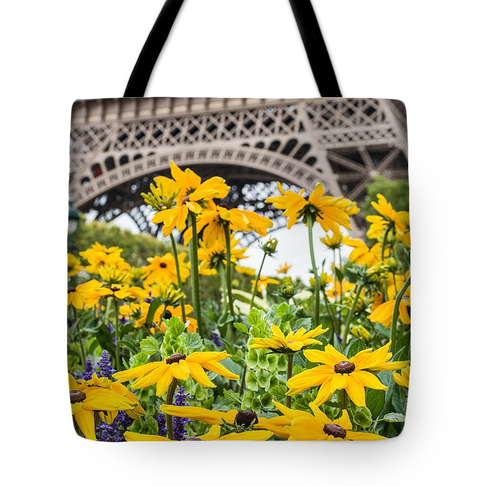 Eiffel Tote Bag featuring the photograph Eiffel Flower by Nigel R Bell