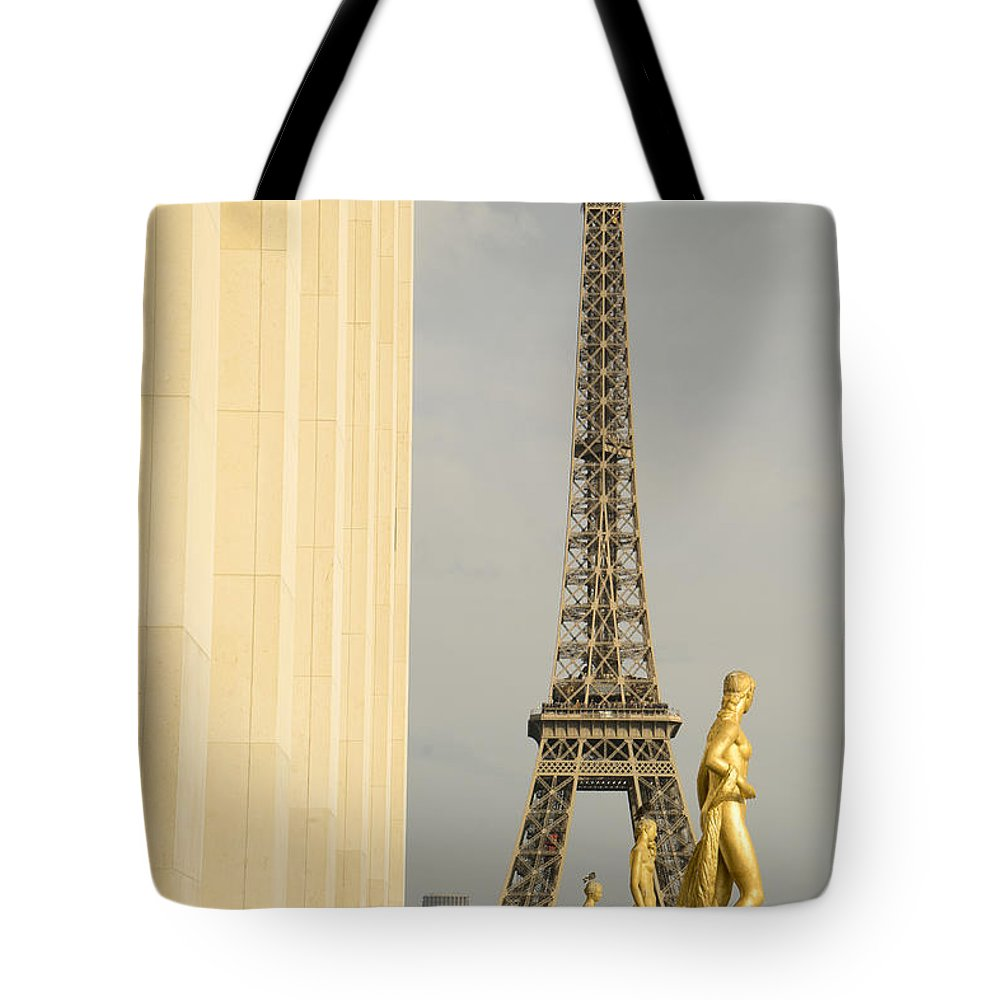 Eiffel Tower Tote Bag featuring the photograph Eiffel Tour Paris by For Ninety One Days