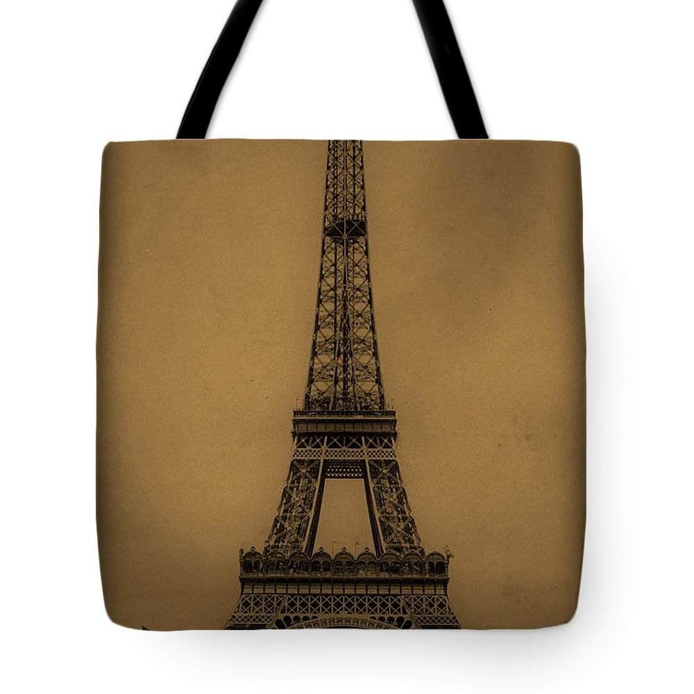 Eiffel Tower Tote Bag featuring the photograph Eiffel Tower 1889 by Andrew Fare