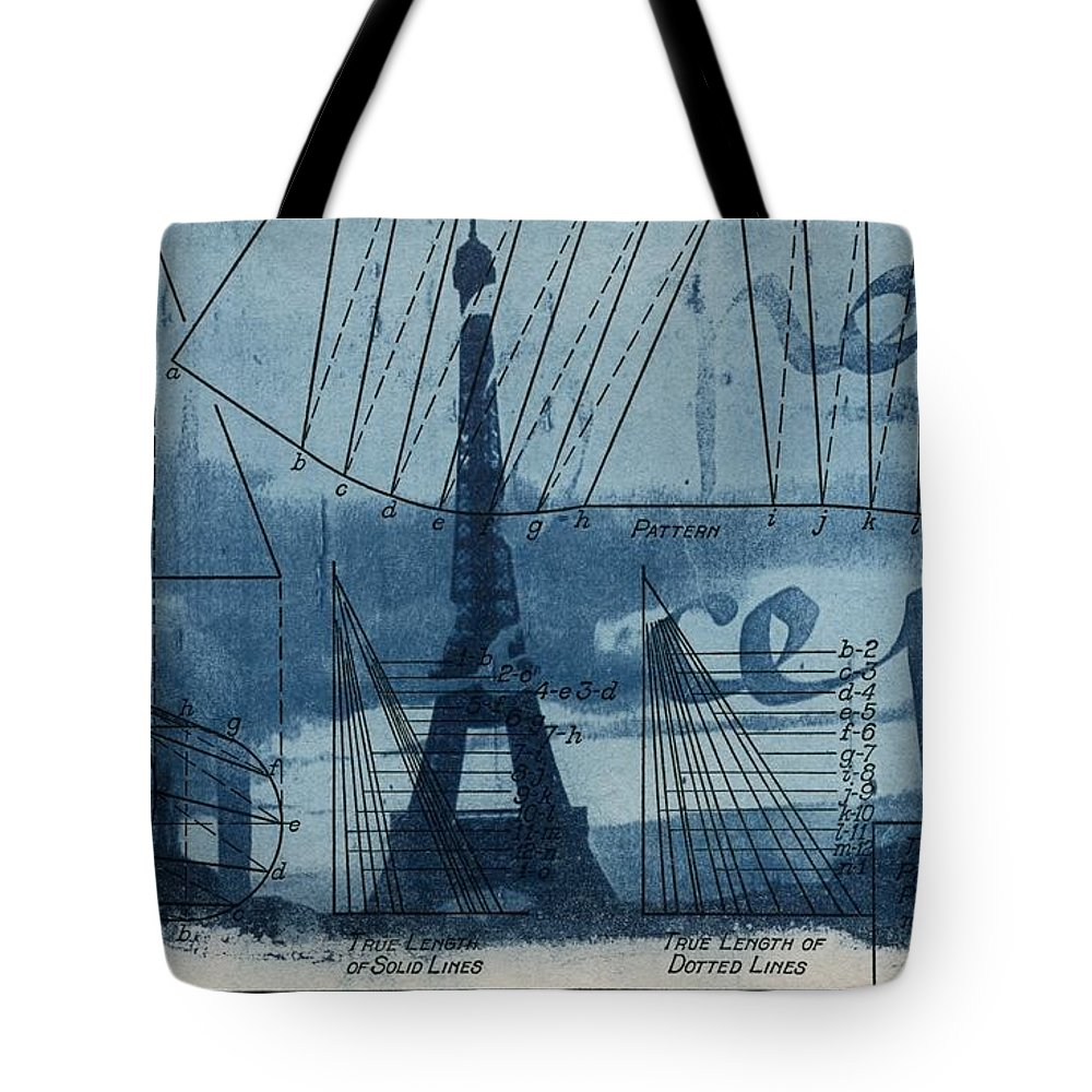 Eiffel tower blueprint tote bag for sale by jane linders eiffel tower tote bag featuring the photograph eiffel tower blueprint by jane linders malvernweather Choice Image
