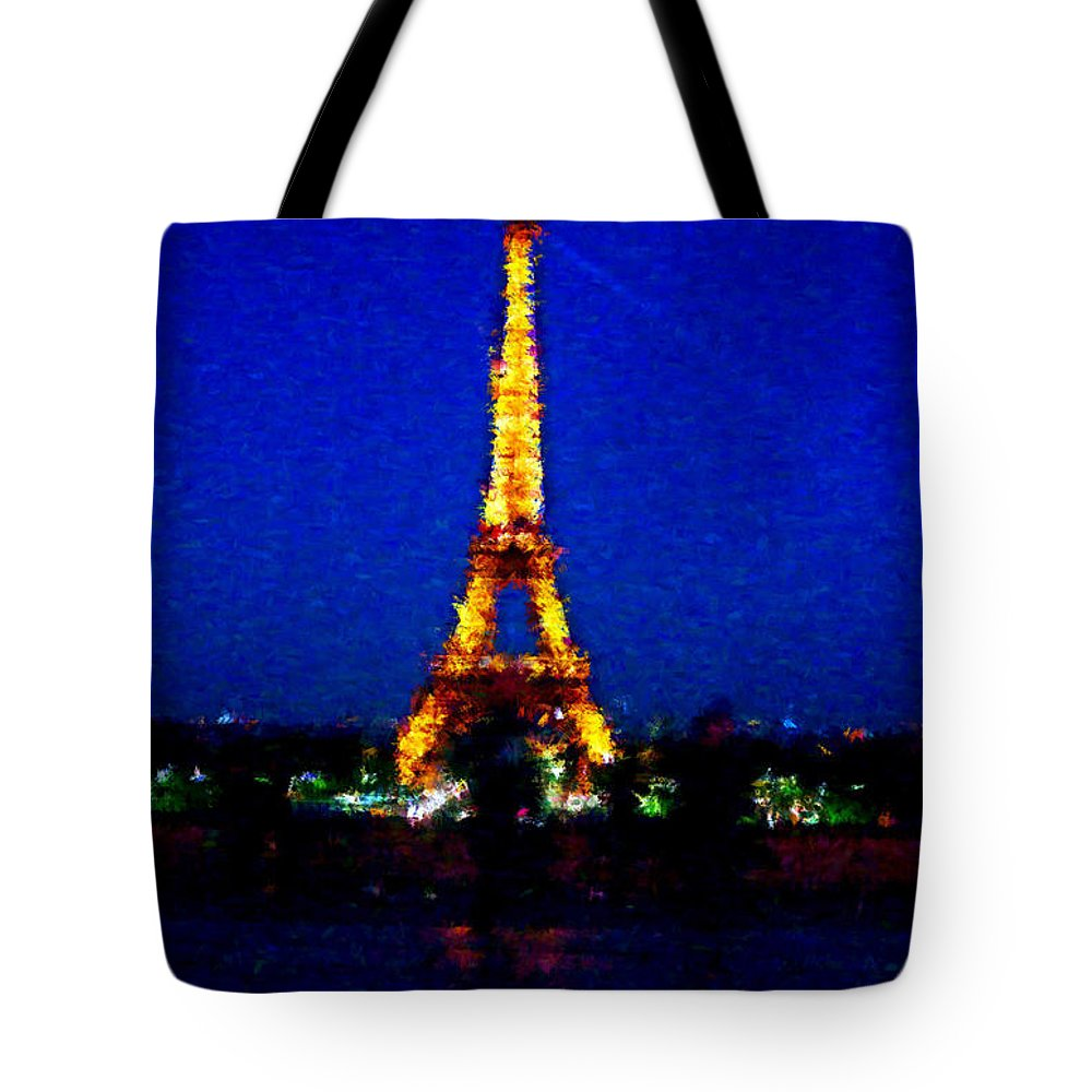 Eiffel Tower Tote Bag featuring the photograph Eiffel Tower Expressive by David Lange