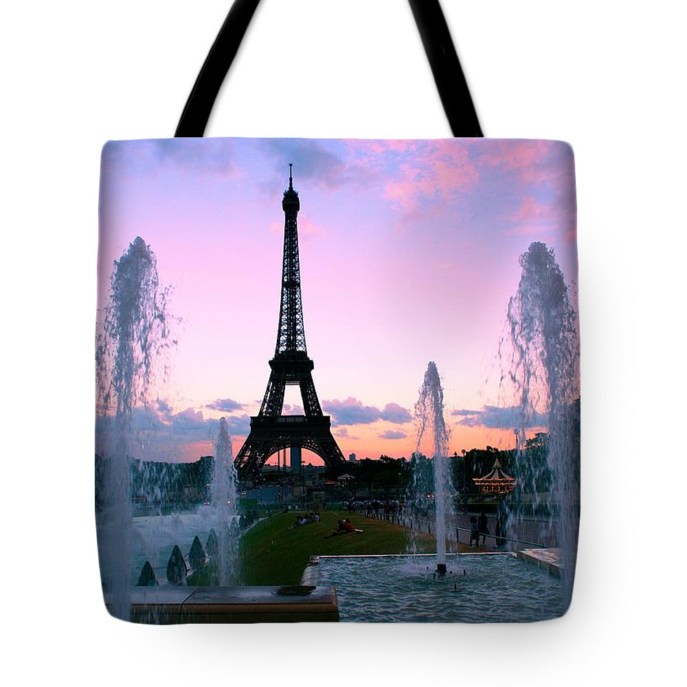 Eiffel Tower Tote Bag featuring the photograph Eiffel Tower In Evening Light by Mike Marsden