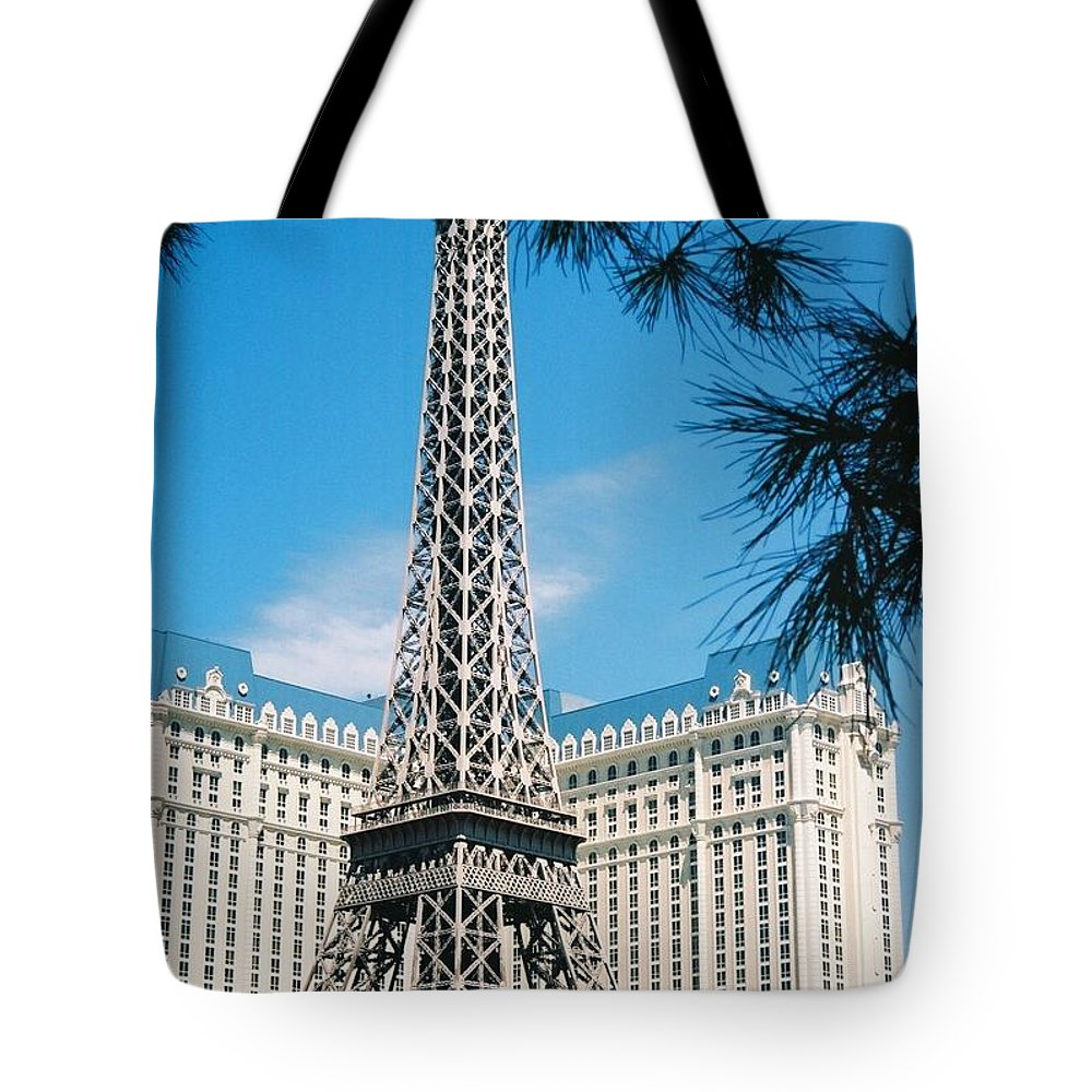 Eiffl Tower Tote Bag featuring the photograph Eiffl Tower Vegas by Eric Schiabor