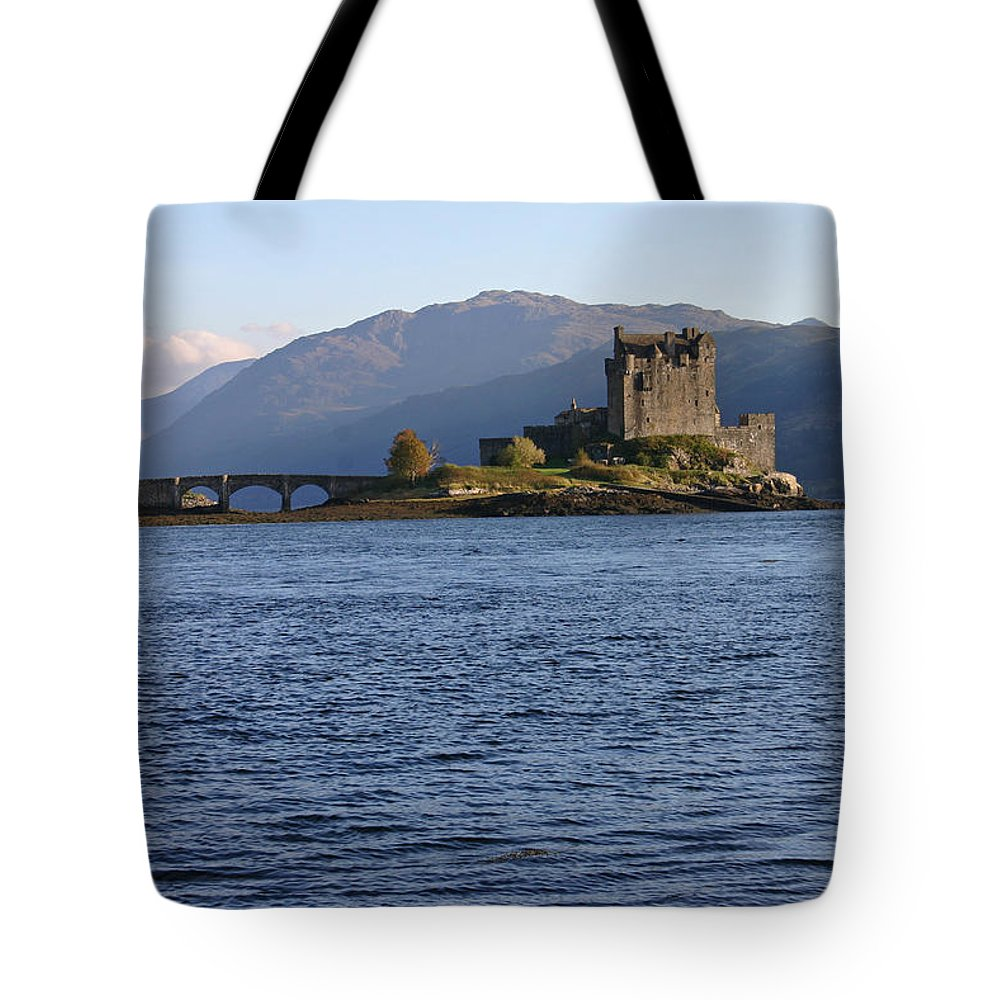 Alsh Tote Bag featuring the photograph Eilean Donan Castle by Fraser McCulloch
