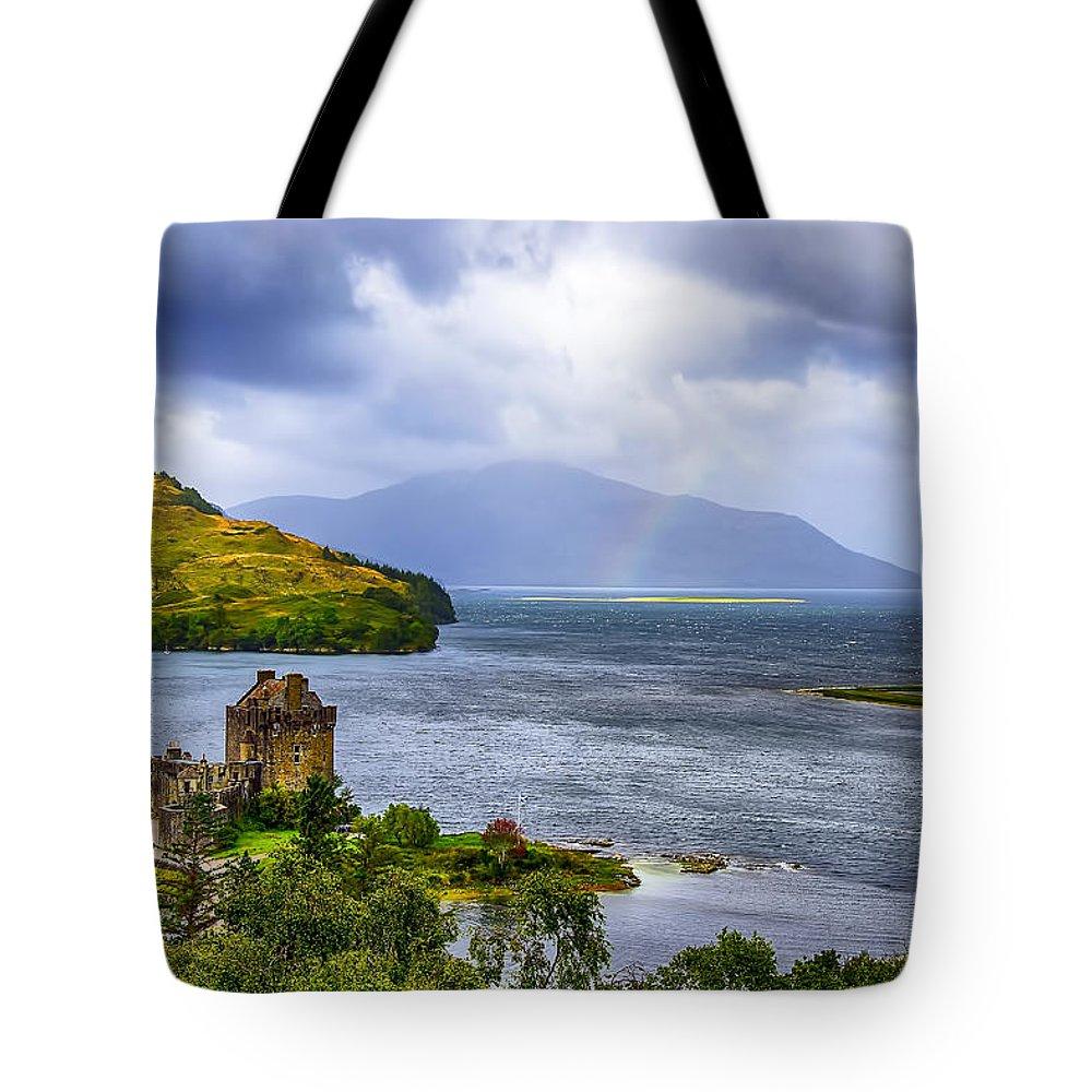 Loch Duich Tote Bag featuring the photograph Eilean Donan Loch Duich by Chris Thaxter