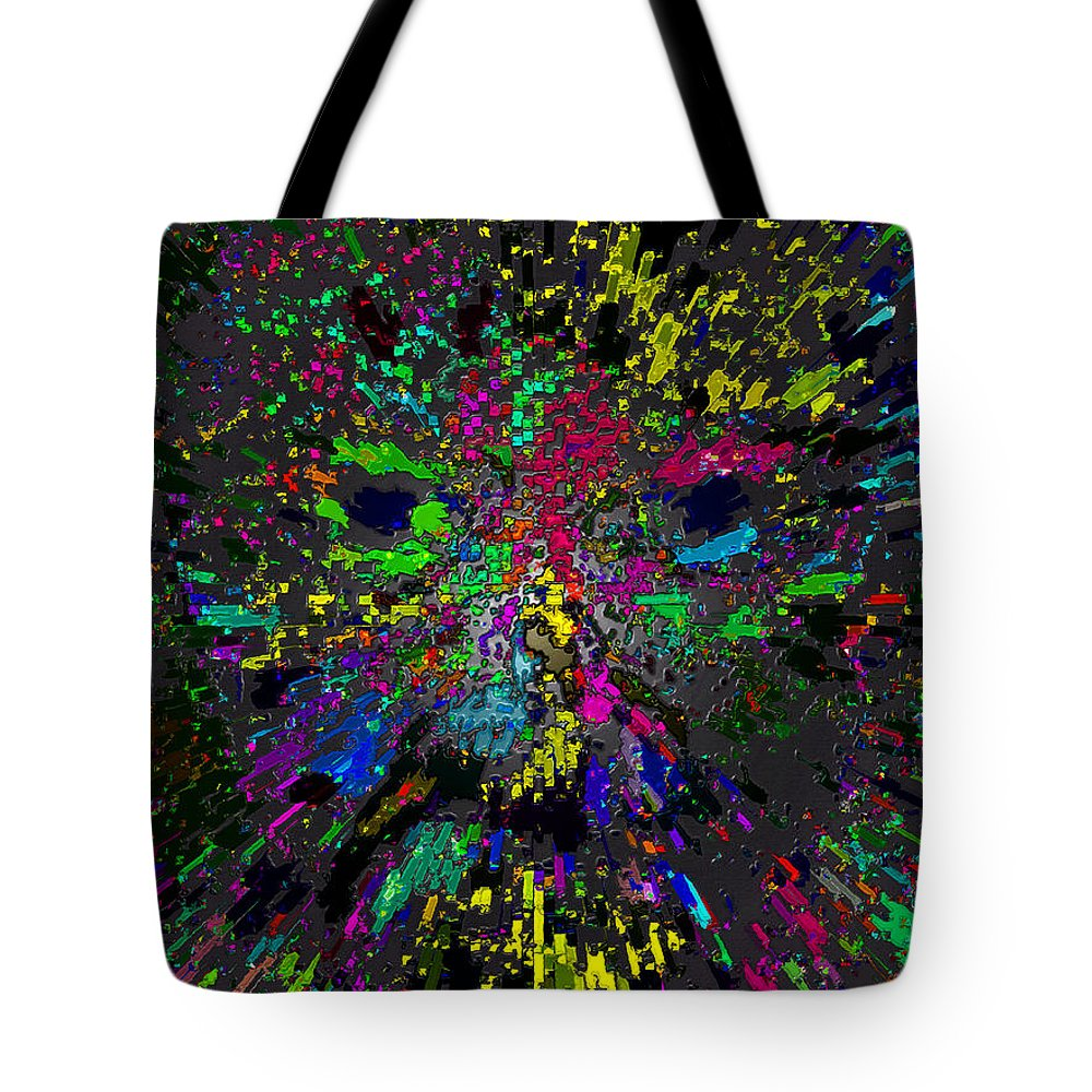 Einstein Tote Bag featuring the painting Einsteins Exploding Head by David Lee Thompson