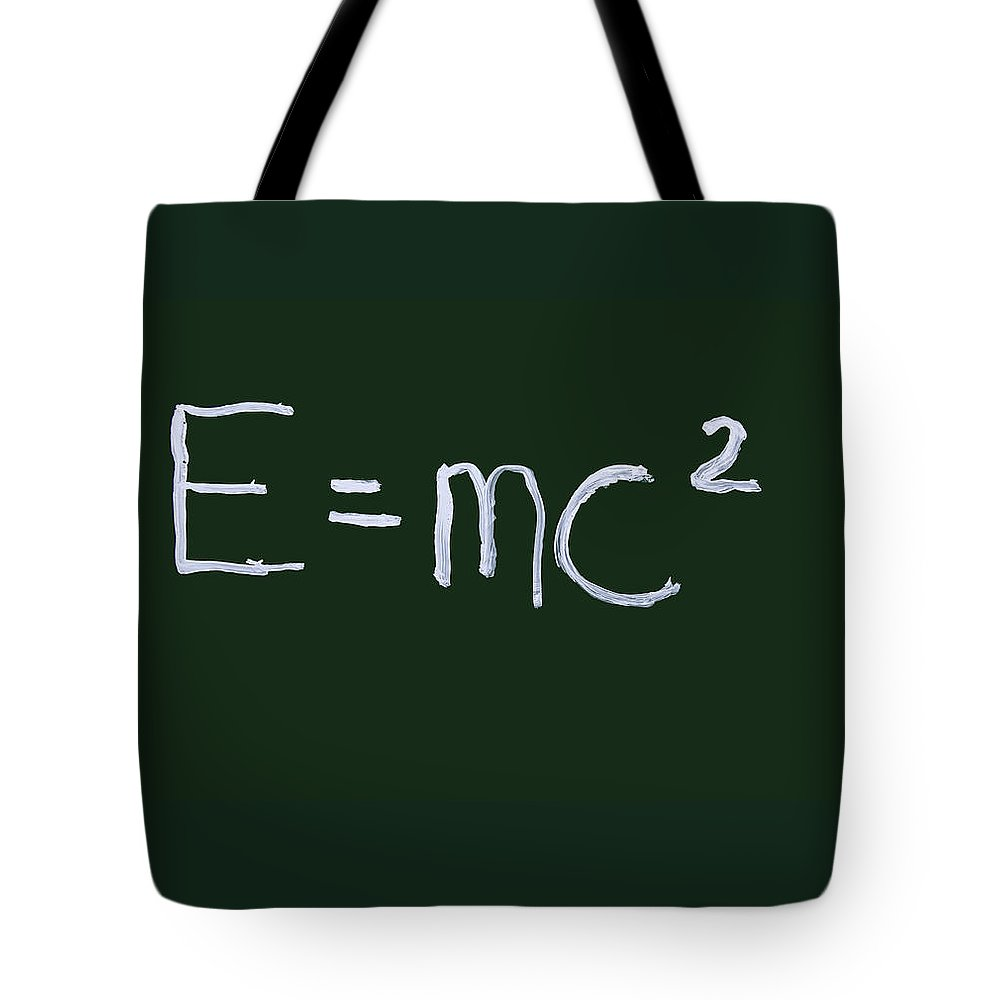 Physics Tote Bag featuring the photograph Einstein Formula by Phil Cardamone