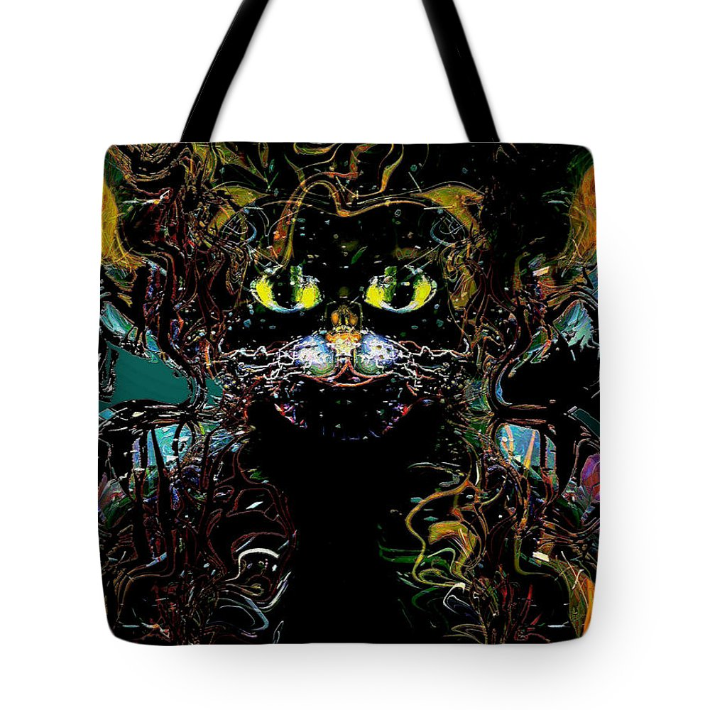 El Gato Tote Bag featuring the mixed media El Gato by Natalie Holland