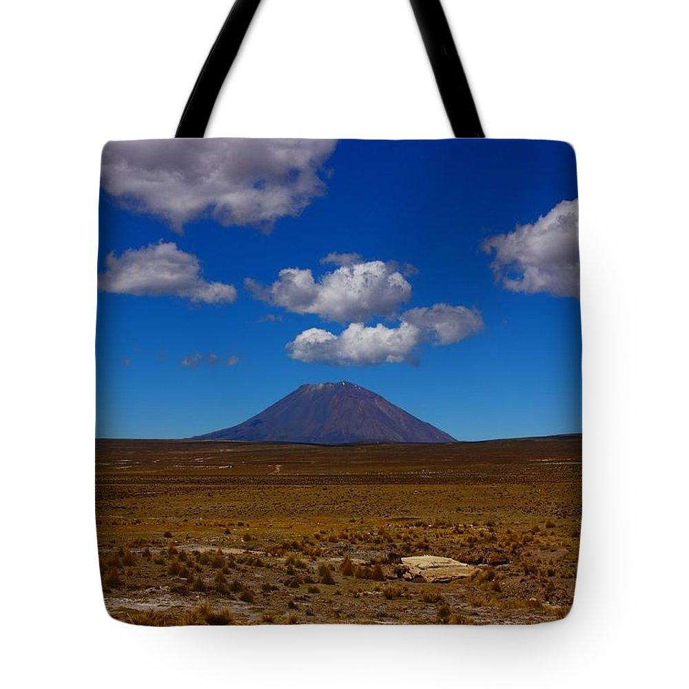 Peru Tote Bag featuring the photograph El Misti by FireFlux Studios