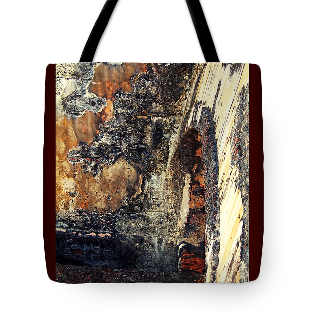 El Morro Tote Bag featuring the photograph El Morro Arch With Border by Lucy VanSwearingen
