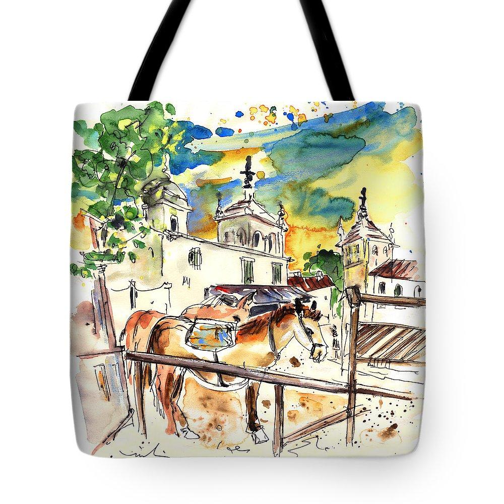 Travel Tote Bag featuring the painting El Rocio 02 by Miki De Goodaboom