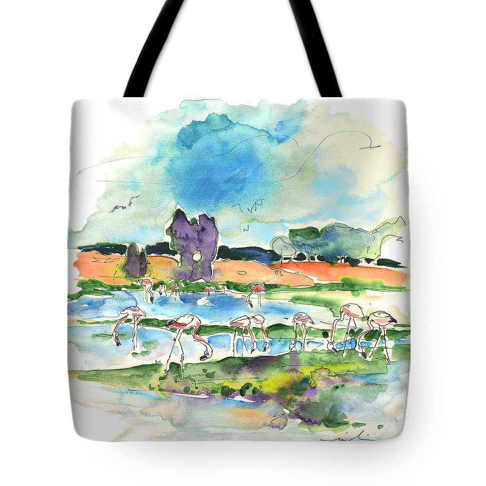 Travel Tote Bag featuring the painting El Rocio 08 by Miki De Goodaboom