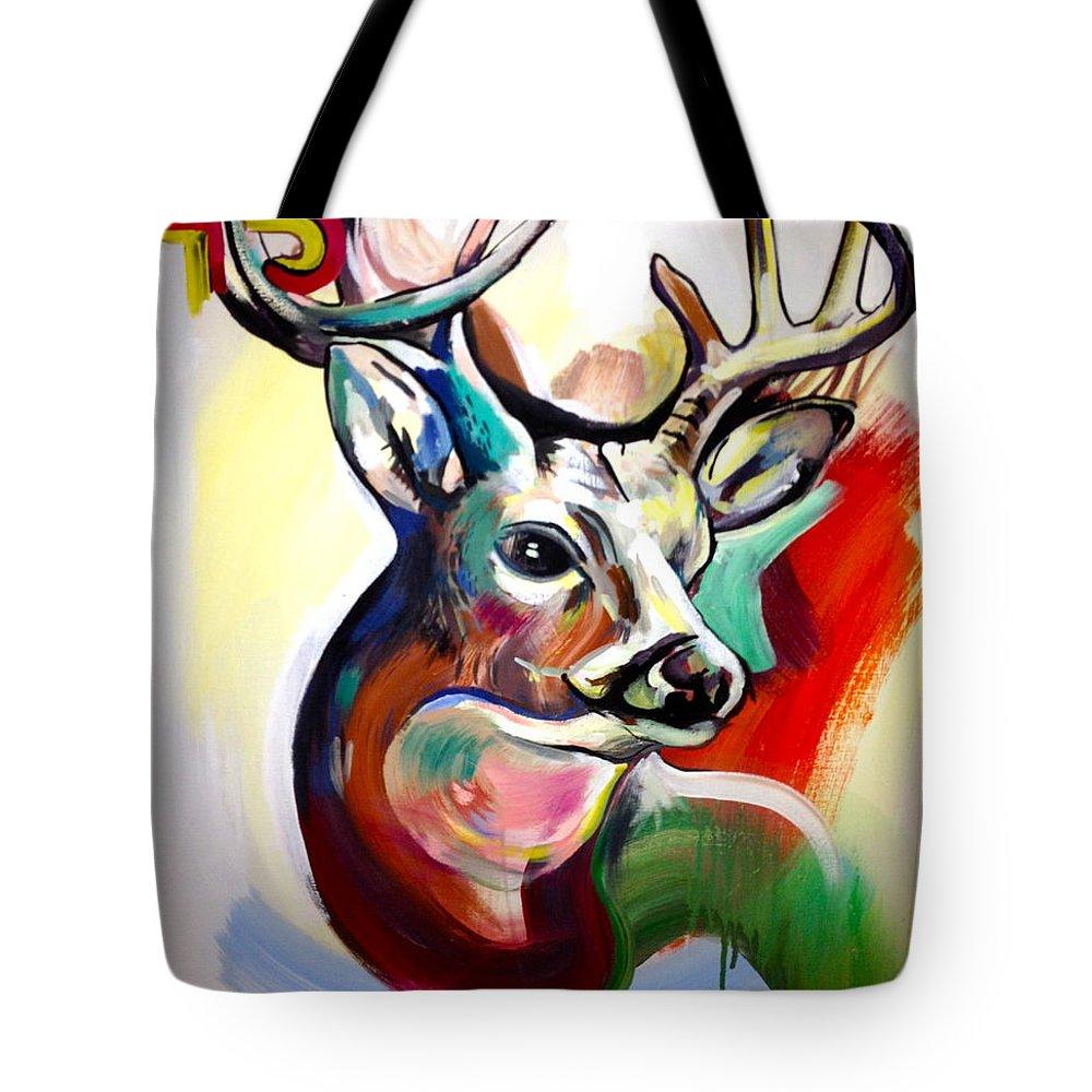 Deer Tote Bag featuring the painting El Venado by Britt Kuechenmeister
