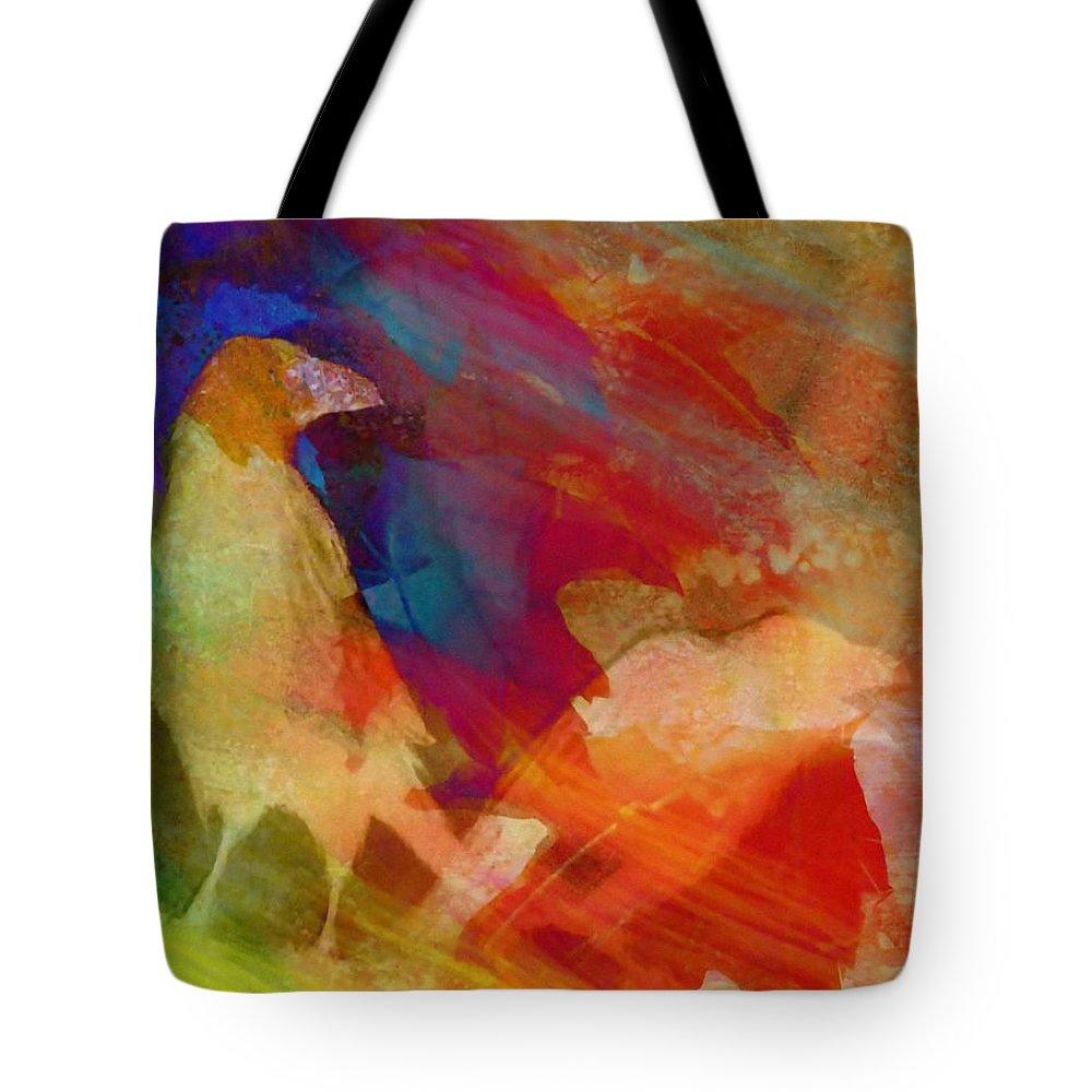 Digital Painting Tote Bag featuring the painting Elders Passing by Francine Dufour Jones