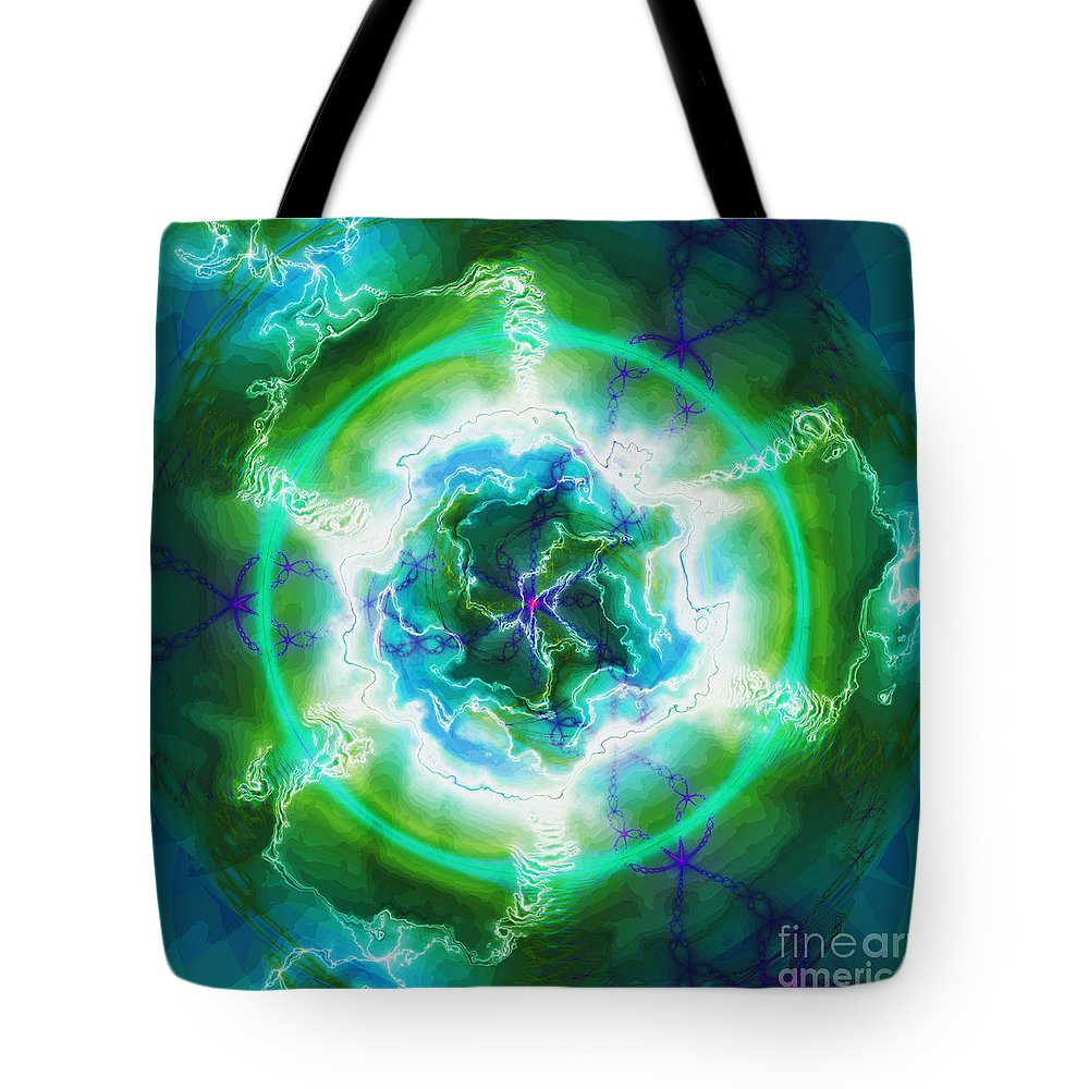 Fractal Art Tote Bag featuring the digital art Electric Attraction by Elizabeth McTaggart