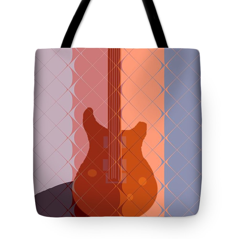 Guitar Tote Bag featuring the painting Electric Guitar Solo by Pharris Art