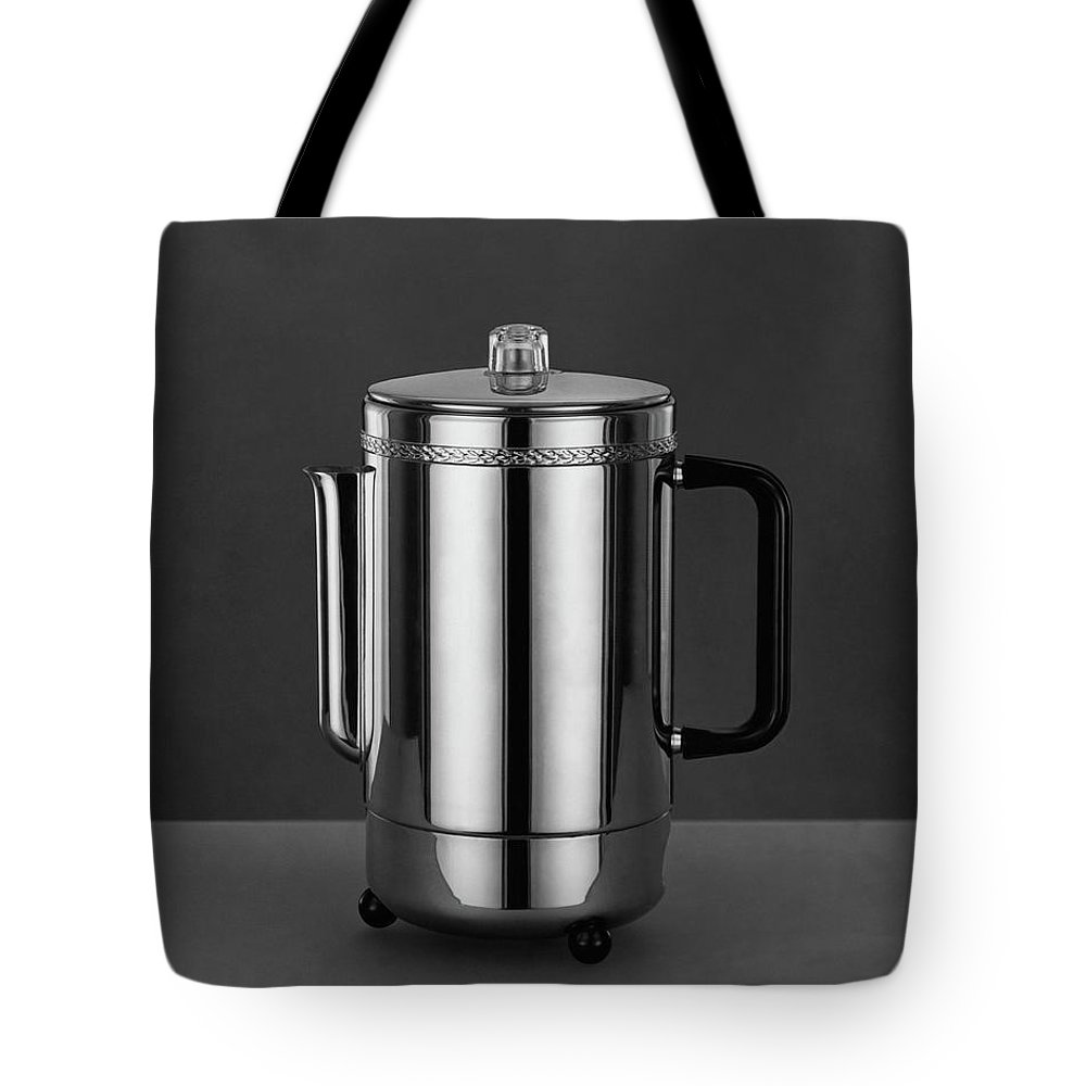 Home Accessories Tote Bag featuring the photograph Electric Percolator by Martinus Andersen