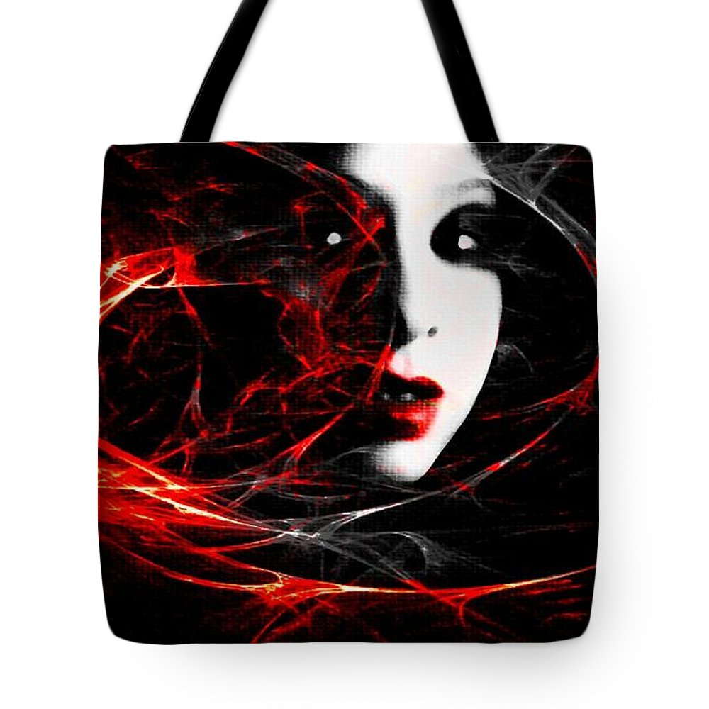 Black Tote Bag featuring the photograph Electric Spark by Jessica Shelton