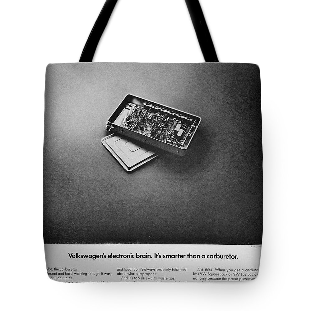 Volkswagen Tote Bag featuring the photograph Electronic Brain by Benjamin Yeager