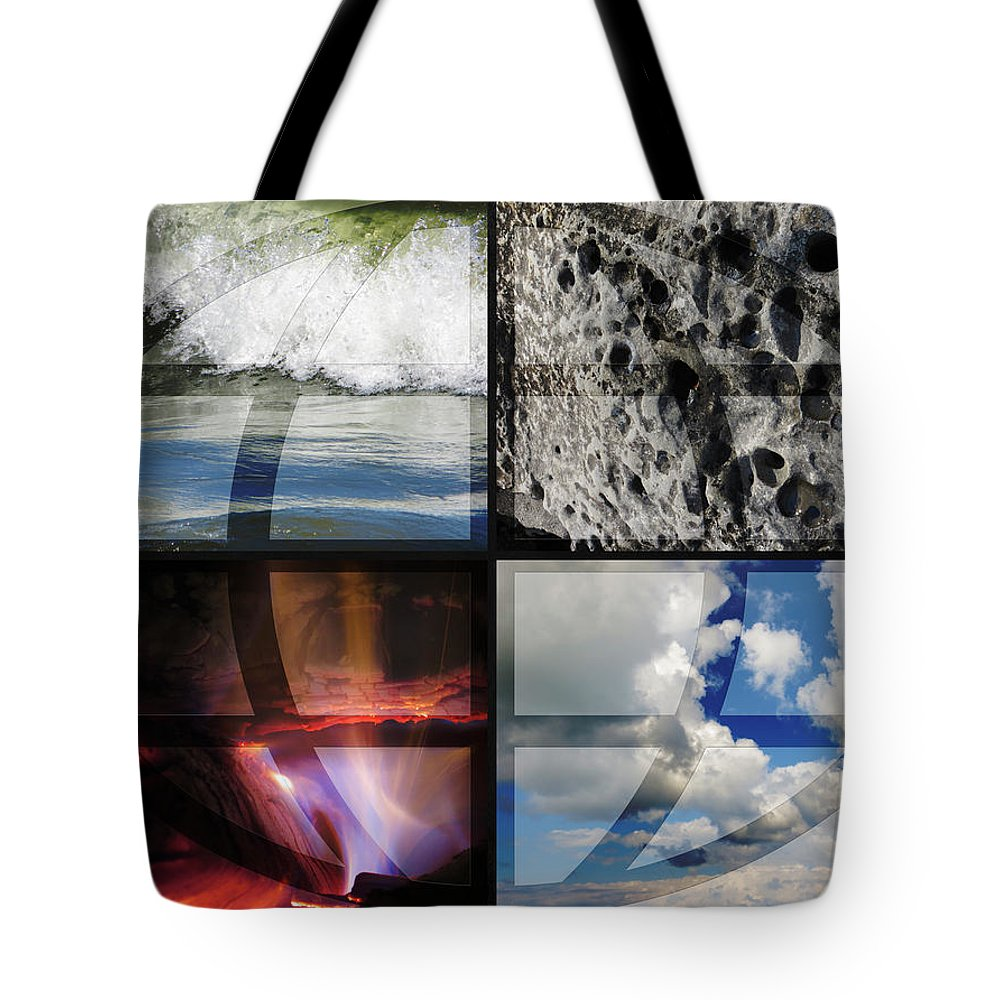 Four Elements Tote Bag featuring the photograph Elemental Forces by Shawna Rowe