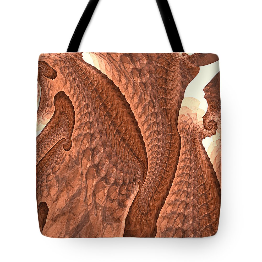 Trunk Tote Bag featuring the digital art Elephant Love by Fran Riley